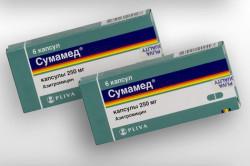 Сумамед для лечения тонзиллита