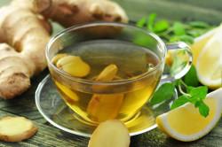 Имбирный чай для лечения тонзиллита