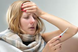 Высокая температура тела при гнойной ангине